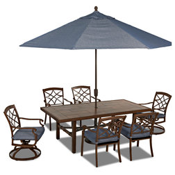 Great Transitional Outdoor Dining Sets by Klaussner Furniture