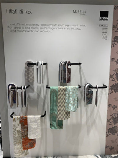 I Filati di Rex by Florim display at KBIS