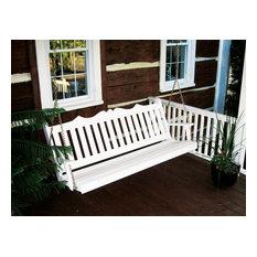 5' Pine Porch Swing, Royal English, White