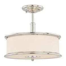 Carlisle 3-Light Dual Mount Semi-Flush or Pendant