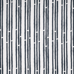 """PaperBoy Interiors """"Stripes"""" Fabric, White and Blue"""