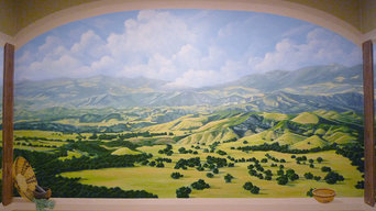 Chumash / Santa Ynez Valley landscape mural for American Indian Health Services