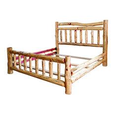 Rustic Red Cedar Log Wagon Twin Bed