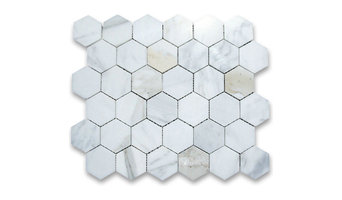 Calacatta Gold 2 inch Hexagon Mosaic Tile Polished - Marble from Italy