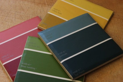 loving color: 5 ways to decorate with paint chips