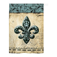 Mardi Gras Fleur De Lys 2-Sided Vertical Impression House Flag