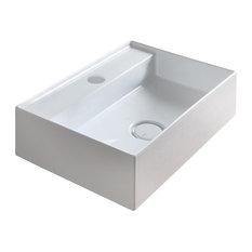 Hide Bathroom Sink, Wall Hung, 50x35 cm