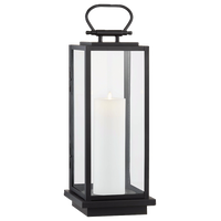 Stanton Outdoor LED Floor Lantern, Black