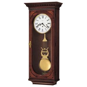 Howard Miller Lewis Key-Wound Triple-Chime Wall Clock