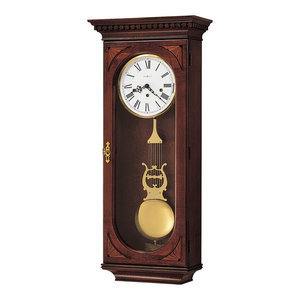 Howard Miller Chiming Key Wound Grandfather Wall Clock Alcott Traditional Floor And Grandfather Clocks By Interior Clue