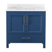 Kendall Blue Bathroom Vanity, 36''