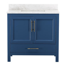Kendall Blue Bathroom Vanity, 36''