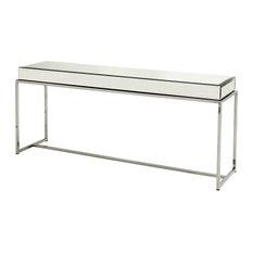 Glass Console Table Eichholtz Beverly Hills Black 63-inchx16-inchx28-inch