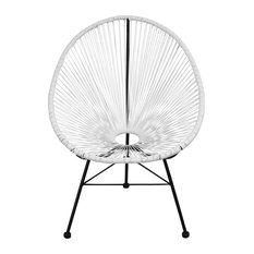 Acapulco Weave Lounge Chair, White