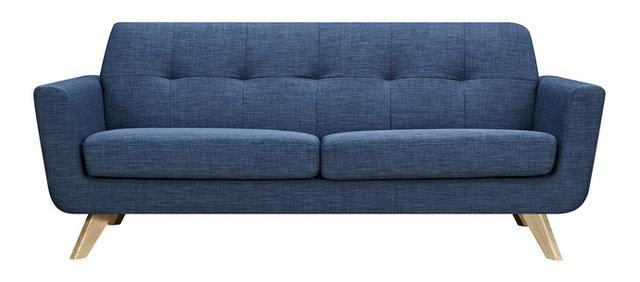 Amazing Stone Blue Dania Sofa, Natural