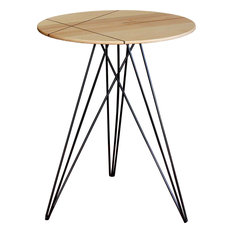 Hudson Inlay Side Table, Black, Maple