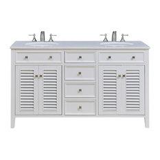"""Cape Cod 60"""" Double Bathroom Vanity Set, White"""