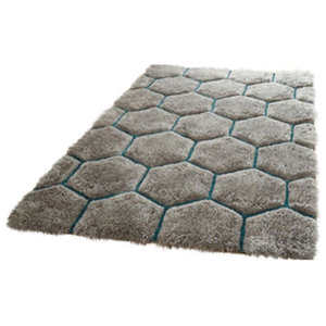 Noble House 30782 Rug, Grey and Blue, 150x230 cm