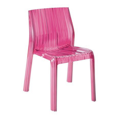 Kartell Frilly Chair, Transparent Fuchsia, Set of 2
