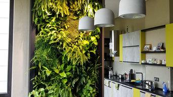 Фитостена из живых растений  2.7м х 1м