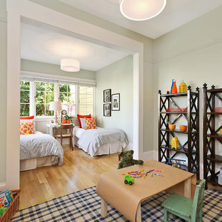 Inspiration For An Eclectic Gender Neutral Light Wood Floor Kids Room Remodel In San