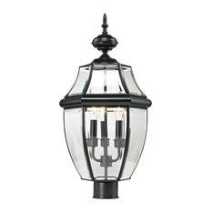 Cornerstone Ashford 3 Light Exterior Post Lantern, Black