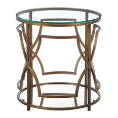 Edward Round Side Table Brass