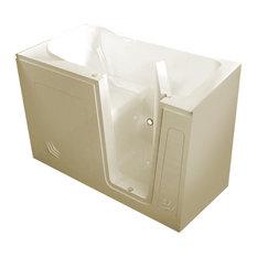 MediTub Walk-In 30 x 54 Right Drain Biscuit Soaking Walk-In Bathtub