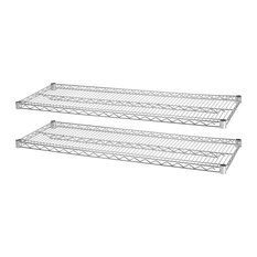"""Lorell Industrial Wire Shelving Starter Extra Shelves, Steel, 48""""X18"""""""