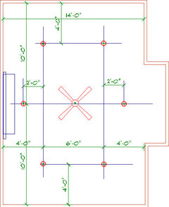 See If The Attached Layout Might Just Do Job Use A Directional Can Light In Front Of Fp