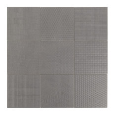 "Oakland Decor 6""x6"" Porcelain Tile Collection, Gray"