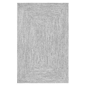"Braided Casual Solid Rug, Salt and Pepper, 8'6""x11'6"""