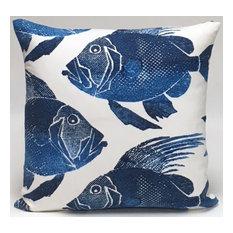 Blue Fish Pillow
