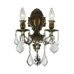 50 most popular victorian wall sconces for 2018 houzz traditional elegance 2 light wall sconce crystal clear antique bronze victorian wall sconces aloadofball Images