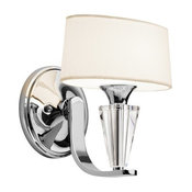 Kichler Lighting 42028CH Crystal Persuasion Transitional Wall Sconce In Chrome