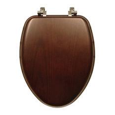 Bemis 19601CP 888 Natural Reflections Wood Elongated Toilet Seat, Dark Walnut