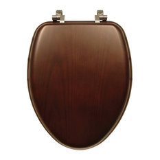 Bemis - Bemis 19601CP 888 Natural Reflections Wood Elongated Toilet Seat, Dark Walnut - Toilet Seats
