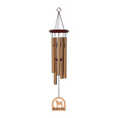 """Chimes of Your Life Wind Chime, 19"""", Shiba Inu, Bronze"""
