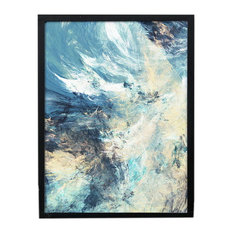 Nordic Small Fresh Wall Painting Decorative UnFramed Art Picture For Home, Waves