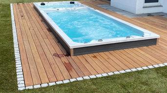 Swim Spa mit Terrasse aus Cumaru Holz