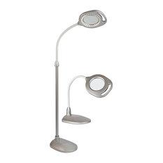 OttLite 2-in-1 LED Magnifier Floor to Table Lamp