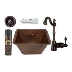 """Premier Copper Products BSP4_BS15FDB2-B Fleur De Lis 15"""" Square - Bronze"""
