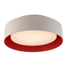 Bromi Design B4101 Lynch 3 Light White and Red Drum Pendant