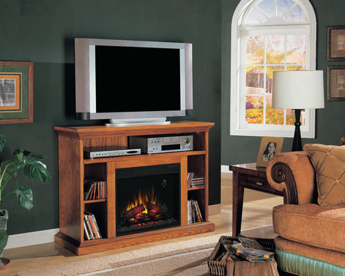 ClassicFlame - Beverly Electric Fireplace TV Stand in Premium Oak -  23MM374-O107 - Indoor - Electric Fireplace TV & Media Consoles