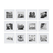 """12 Piece 12""""x12"""" Frame Kit, Matted To 8""""x8"""", White"""