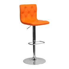 Flash Furniture Contemporary Barstool, Orange, CH-112080-ORG-GG