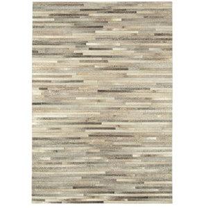 Gaucho Stripe Rug, Light Grey, 200x300 cm