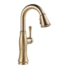 Delta 9997-DST Cassidy Pull-Down Bar/Prep Faucet - Lumicoat Champagne Bronze