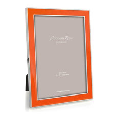 """Curved Double Photo Frame 4/"""" x 6/"""" in Two Tone Silver Finish"""