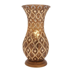 "Metal Lamp Vase 10""x20"""